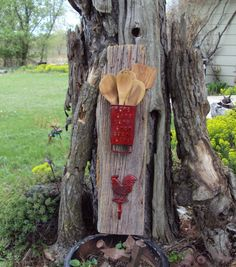 Primitive Towel Rack And Utensil Holder Old Farm by USAcreations, $40.00