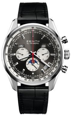 Zenith El Primero 410 Limited Edition Calendar Chronograph Watch #men #watches http://www.maier.fr/montres-prestige/montre-collection-horlogerie-luxe?post-home=&marques%5B%5D=41