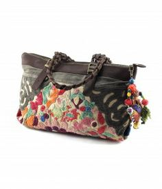 Wabags Delilah Floral Peacock East West Tote - Lufli