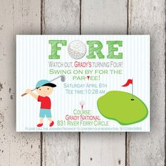 Golf Invitation Golf party Putt Putt Golf by PetitPapel on Etsy, $13.50
