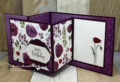 I've got a double z-fold card you'll want to learn how to make! This unique card fold is easy to make. Grab your pretty paper and let's get started! Tri Fold Cards, Fancy Fold Cards, Folded Cards, Z Cards, Card Tags, Step Cards, Cool Cards, Unique Cards, Creative Cards