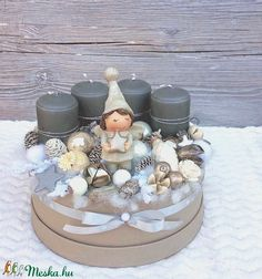 Adventbox - karácsonyi asztaldísz - adventi koszorú (madarkamuhely) - Meska.hu