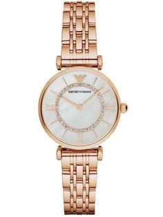 Emporio Armani Ladies Rose Gold Gianni Watch AR1909