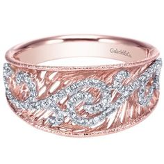 Gabriel & Co. 14K White Gold and Rose Gold .25 CTW Diamond Ring #diamondring #diamonds #jewelry #ring