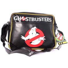 Ghostbusters Classic Logo Messenger Bag (Black) by CODI Hades, Logan, Die Geisterjäger, Ghostbusters Logo, 80s Logo, Shops, Ghost Busters, Bags Uk, Backpack Bags