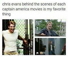 Chris Evans - Captain America BTS