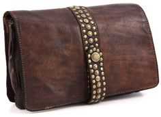 Campomaggi Lavata Clutch Leather dark-brown 24,5 cm - C1213VL-1701 | Designer Brands :: wardow.com