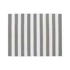 Olin Grey Striped Cotton Rug | Crate and Barrel