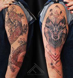 Black and red symbolic tattoo on womans arms. Artist Janis Andersons. #latviansigns #lielvardesjosta #oakleaves #oak #symbolic #symbols #wolf #geometric #redandblack #tattoo #animal #patriotic #armtattoo #womanwithtattoos #acorns #riga #tattooinriga #sporta2 #tattoomed #tattooed #tattooart #art #besttattoo #ink #inked #skin #tattooartist #tattoofrequency #share #like #follow