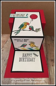 SU Bird Banter Fun fold middle