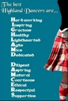 Highland dancing quote