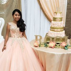 Rocio Quince Quince Cakes, Quinceanera Cakes, Girls Dresses, Flower Girl Dresses, Wedding Dresses, Flowers, Fashion, Dresses Of Girls, Bride Dresses