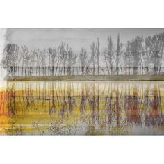 "ParvezTaj 'Sunset Lake' by Parvez Taj Painting Print on Wrapped Canvas Size: 40"" H x 60"" W"
