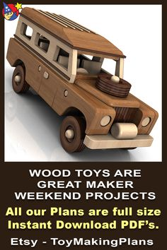 Wooden Plane, Wooden Car, Wooden Toys, Woodworking Workshop, Woodworking Projects Diy, Wood Projects, Cardboard Car, Wooden Toy Trucks, Wood Toys Plans