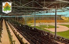 For Toronto fans.Lovely old postcard of Maple Leaf Stadium. Shared by Eric Zweig. Baseball Park, Old Postcards, Railroad Tracks, Ontario, Toronto, Past, Canada, History, Cathedrals