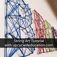 My very favorite project ever.  String Art!  DIY!  #stringart
