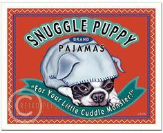 "Boston Terrier Art ""Snuggle Puppy"" Art Print by Krista Brooks Puppies In Pajamas, Boston Terrier Art, Miniature Schnauzer Puppies, Schnauzer Puppy, Schnauzers, Chihuahuas, Snuggles, Snuggle Puppy, Boston Art"