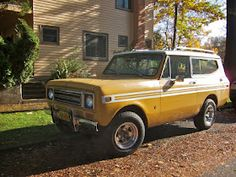 learned how to drive in one of these. International Scout II... 3 speed, stick shift. I loved that thing!!