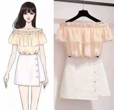 Ideas for dress designer sketches princess - Dress design sketches - Kawaii Fashion, Cute Fashion, Look Fashion, Korean Fashion, Fashion Models, Girl Fashion, Fashion Art, Fashion Drawing Dresses, Fashion Illustration Dresses