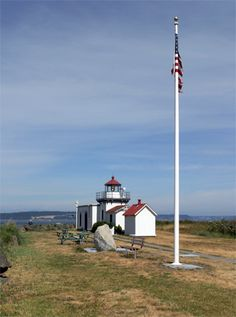 Point No Point Lighthouse, Washington. Built 1879, located on the Northern tip of the Kitsap peninsula