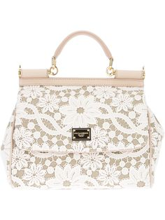 It's darling & I'm dreaming! // Dolce & Gabbana Lace Print Tote