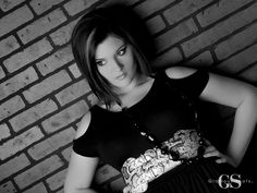 A gorgeous black and white portrait! #GlamourShots