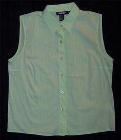 $34.99 Womens Size 6 Blouse DKNY Size 6 Shirt NEW Mint Green Ladies Medium Top NICE ~~~
