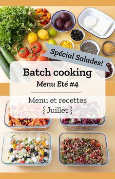 Batch cooking Eté #4 – Mois de Juillet – Semaine 29 Family Vegetarian Meals, Vegetarian Recipes Easy, Vegetarian Cooking, Healthy Cooking, Eating Healthy, Family Meals, Clean Eating, Cooking Recipes For Dinner, Healthy Dinner Recipes