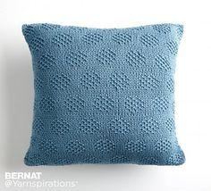 Ravelry: Mossy Dots Pillow pattern by Bernat Design Studio