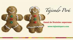 Galletas de jengibre (gingerbread cookies) en crochet