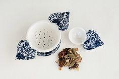 Ceramic Tea Strainer on Etsy by Pebuku Pottery