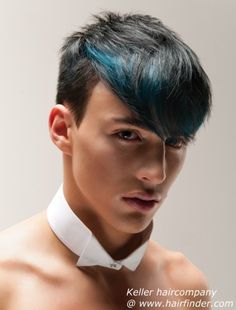 Hair highlights are meant to add a shine and texture to your locks. When you want to upgrade your look there is nothing better than highlights. Subtle Hair Color, Mens Hair Colour, Hair Color For Black Hair, Green Hair, Boys Blue Hair, Boys Colored Hair, Blue Hair Streaks, Blue Hair Highlights, Dyed Hair Men