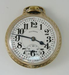 Vintage Watches Collection : Railroad Pocket Watch More - Watches Topia - Watches: Best Lists, Trends & the Latest Styles Old Pocket Watches, Pocket Watch Antique, Antique Watches, Vintage Watches, Illinois, Cartier, Railroad Pocket Watch, Cool Watches, Wrist Watches