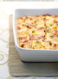 Bacon, Cheese & Potato Ostrich Egg Frittata (where does one even get an ostrich egg?)