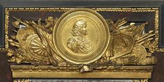 Profile of Louis XIV, Cabinet au perroquet, second half 17th century by Andre-Charles Boulle (1642-1732) (Louvre)