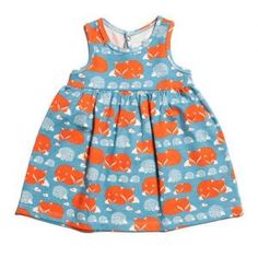 Winter Water Factory Foxes & Hedgehogs Baby Dress