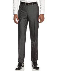 Ryan Seacrest Mens Wool Slim Fit Dress Pants Gray 3230 ** Read more reviews  of