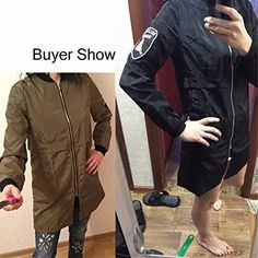 OnIn Women Bomber Jacket Army Green Casual Harajuku Style Outwear Thin Long Slim Baseball Jacket Women Basic Coats ** Click for Special Deals #HarajukuFashionJapan
