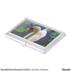Beautiful Swan Business Card Holder
