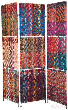 Room Divider Summer Of Love Funky Furniture, Colorful Furniture, Art Furniture, Design Room, Summer Of Love, Fiber Art, Folk Art, Divider, Weaving