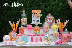 Teen Girl Centerpiece Ideas | 30 of the Best Candy/ Sweet Bar Party Ideas