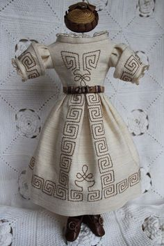 Beautiful costume for antique French fashion doll 18-19 inch.(1860years)