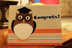 Graduation card with wise owl