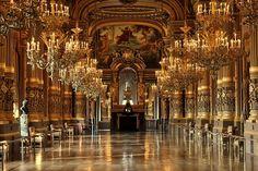 lacedheartt:  Le grand foyer. (Palais Garnier's grand salon).