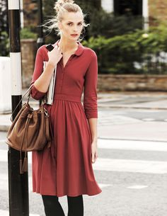 Jersey Shirt Dress. Wow. this is like the new Shabby Apple.... except more expensive..