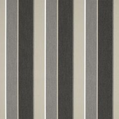 Sunbrella Awning Stripe 4888 0000 Clinton Granite 46 Fabric