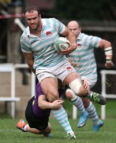 Jamie Roberts playing for Cambridge University this week