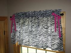 Items similar to Zebra curtain valances on Etsy Zebra Stuff, Girly Stuff, Girly Things, Girls Bedroom, Bedroom Ideas, Zebra Pictures, Curtain Valances, Zebra Curtains, Daughters Room