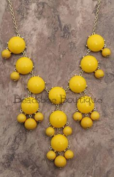 J Crew Inspired Yellow Bubble Necklace Bubble by BeadsbeeBoutique, $15.00