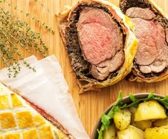 If you are looking for a fancy dinner idea, look no further! Beef Wellington is what you need to impress your dinner guests! The best cut of beef is coated with lots of goodies (such as sautéd mushrooms & parma ham) which is then wrapped in puff pastry and baked.Read more ...Enjoy our easy recipes!Visit our new website: www.happyfoodstube.comSo lets get cooking!
